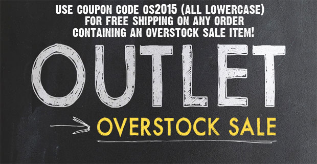 Fall / Winter Overstock Sale with Free Shipping Coupon!