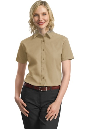Bath fitter attire for Women s short sleeve button down cotton shirts